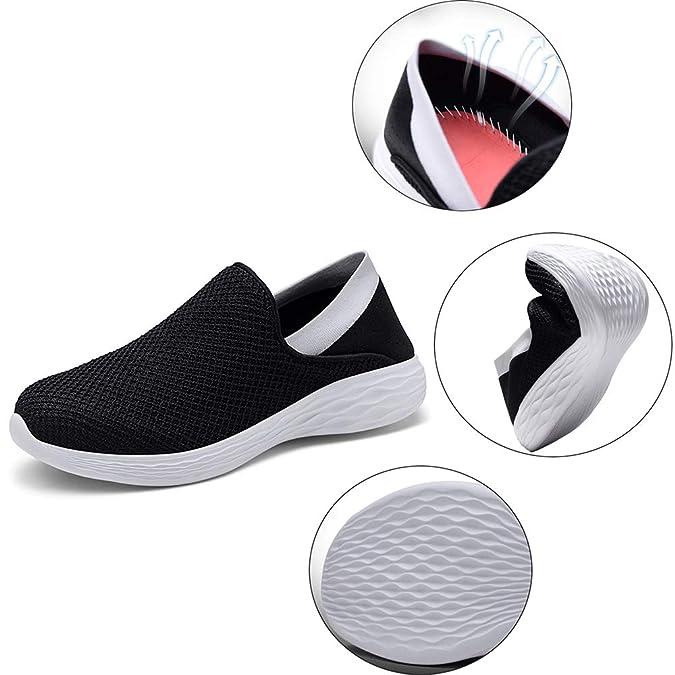 Mocasines Deportes Hombre Mujer Zapatos para Caminar Ponerse ...
