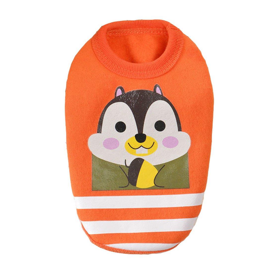 a3606d8df7bb Amazon.com : MD New Striped Cartoon Animal Sweater Baby Pet Clothes Dog  Clothing Puppy Winter Warm Sweater (XXXS, Orange) : Pet Supplies