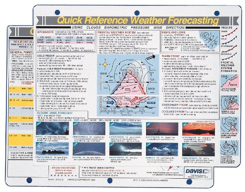 Davis Instruments 0131 Weather Forecasting Quick Reference C