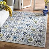 Cheap Safavieh Evoke Collection EVK210C Contemporary Ivory and Blue Area Rug (10′ x 14′)