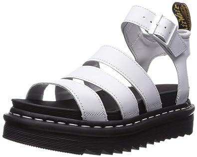 b425a4210399 Amazon.com  Dr. Martens Women s Blaire White Fisherman Sandal  Shoes
