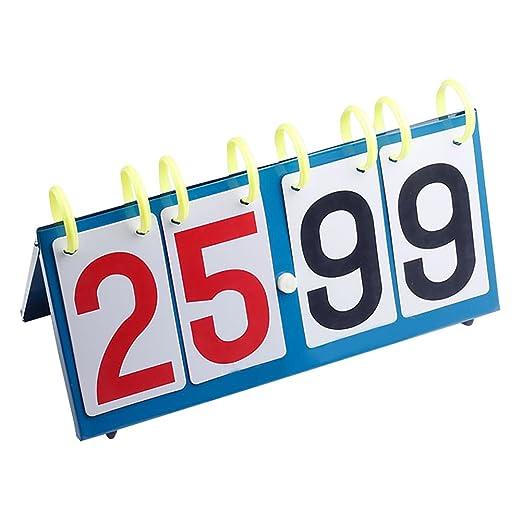 Bclaer72 Marcador Deportivo de 4 dígitos, portátil, para ...