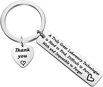 FEELMEM Laboratory Technologist Gift Medical Technologist Gift A Great Laboratory Technologist is Hard to Find Laboratory Keychain Lab Tech Jewelry for Pathologist Microbiologist Chemist Gift