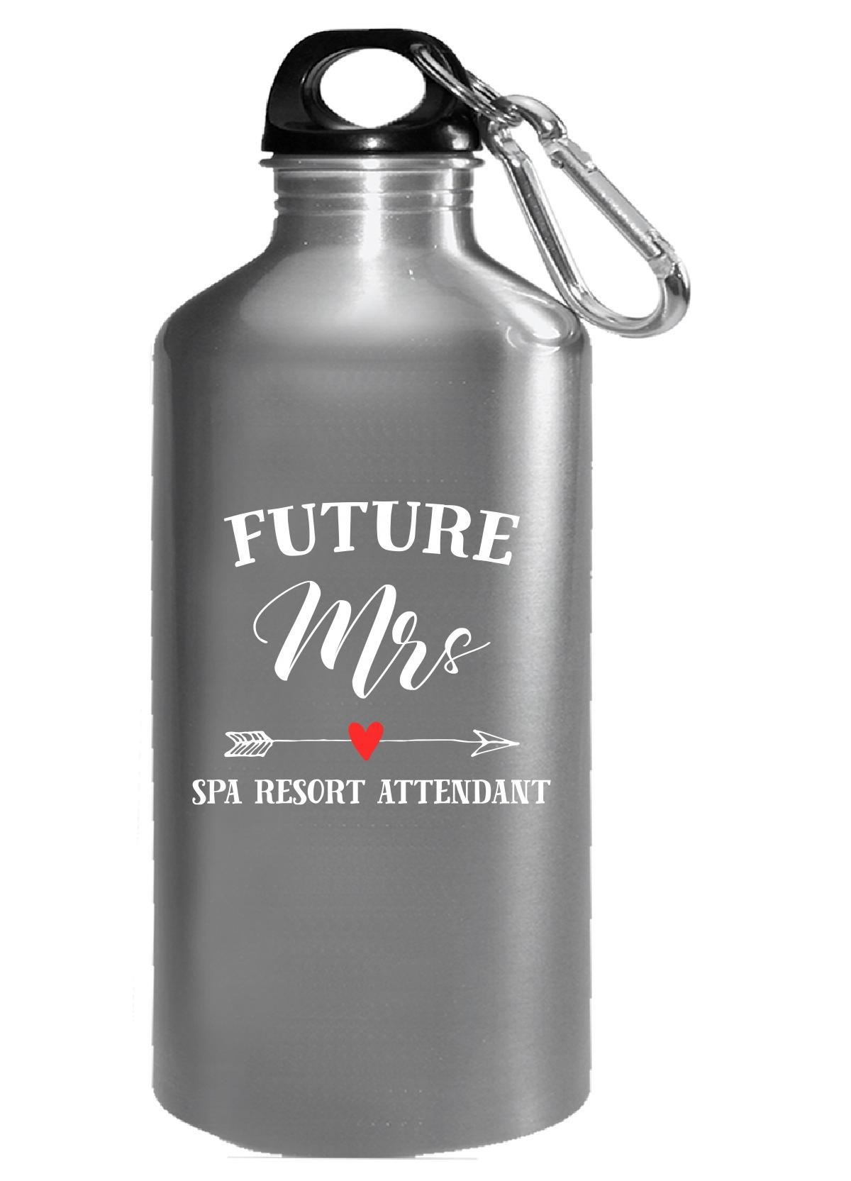 Future Mrs Spa Resort Attendant Womens Bridal Gift - Water Bottle