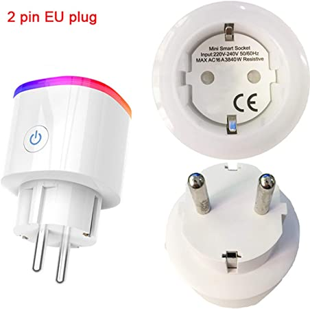 3 prong Single Socket White USA WiFi Smart Plug Works with Amazon Alexa