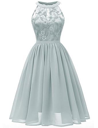ad9c9b342b480 SUBWELL Women's Floral Lace Chiffon Wedding Bridesmaid Long Maxi Dress  Evening Gown