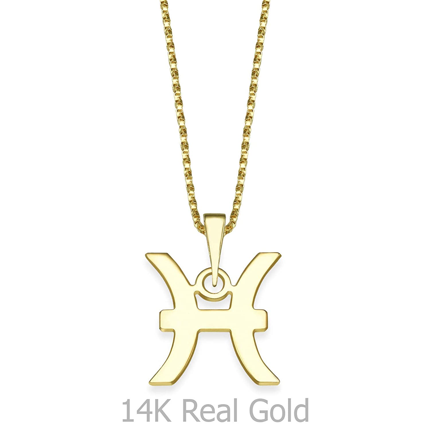 14K Yellow Gold Pieces Pendant With Necklace