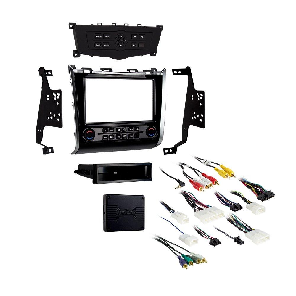 Metra 99-7627HG Single/Double DIN Dash Kit for Select 2013- Nissan Pathfinder Vehicles (Black)
