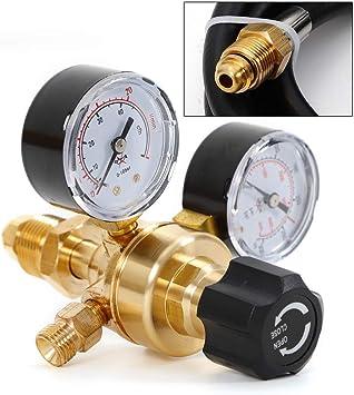 Argon CO2 Tig Mig Flow Meter Welding Regulator Welder Gauge w 6/' Inert Gas Hose