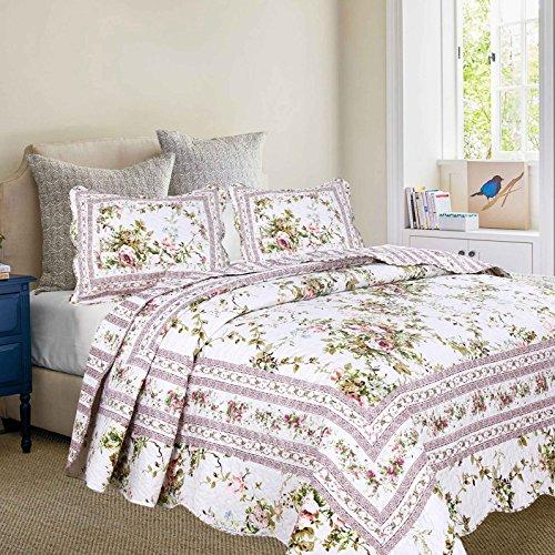 - Primrose Garden Quilt with Standard Pillow Shams Set (Quilt Twin)