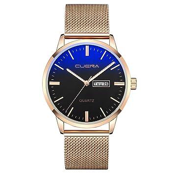 Longra❤ ❤ Moda Reloj de Acero Inoxidable para Hombres/Reloj de Cuarzo analógico Deportivo Militar con Calend: Amazon.es: Deportes y aire libre