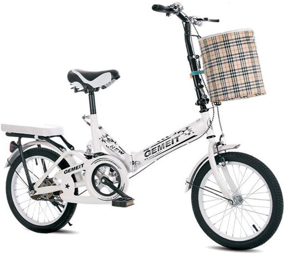 WPY Plegable de Bicicletas de 20 Pulgadas Amortiguador portátil Boy Adultos y Chica de la Bicicleta de la Bicicleta Infantil