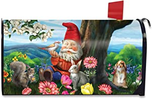 Briarwood Lane Garden Gnome Spring Magnetic Mailbox Cover Birds Standard