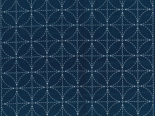 Sashiko fabric indigo dyeing 8 flower