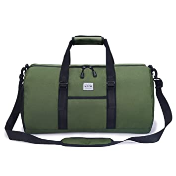 a9351e76538e SUVOM Sports Gym Bag Workout Overnight Weekend Bag Carryall Travel Duffel  Bag Luggage Bags for Men & Women, 35L (Green)