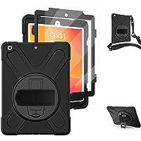 TSQ Funda iPad 8/7 generacion 2020/2019 con Protector de Pantalla | Funda iPad 10.2 Funda Protectora Resistente a Prueba…