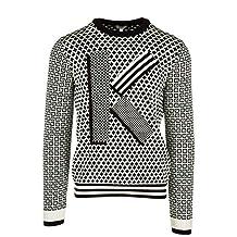 Kenzo men's crew neck neckline jumper sweater pullover white US size L (US 40) F765PU2103LB99