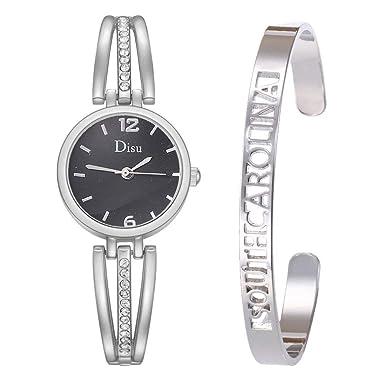 Longra Relojes de Pulsera liviano Mujer, Relojes con Esfera de ...