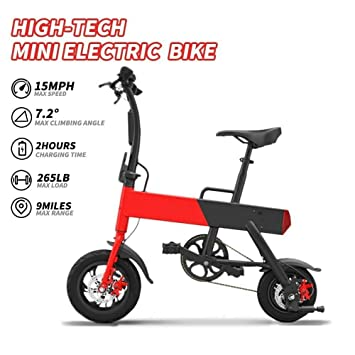Amazon.com: NHT - Mini eBike eléctrico plegable P12 marco de ...