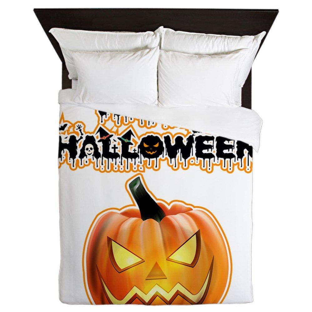 Queen Duvet Cover Happy Halloween Pumpkin