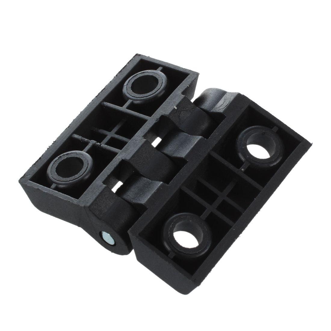 SODIAL R Negro 2 Hojas de Bisagra de cojinete de plastico reforzado
