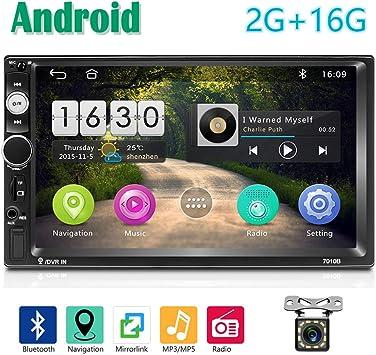 2 DIN Android Radio de Coche GPS 2G+16G CAMECHO Pantalla Táctil ...
