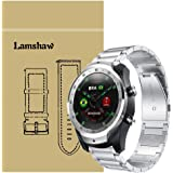 for TicWatch Pro Band, Lamshaw Stainless Steel Metal Replacement Straps for TicWatch Pro Bluetooth Smart Watch (Silver)