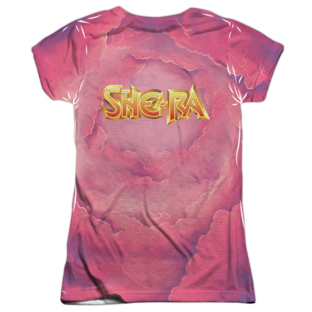 83977ad4 Amazon.com: She Ra Princess of Power Cartoon Flying Unicorn Junior 2-Sided  Print T-Shirt: Clothing