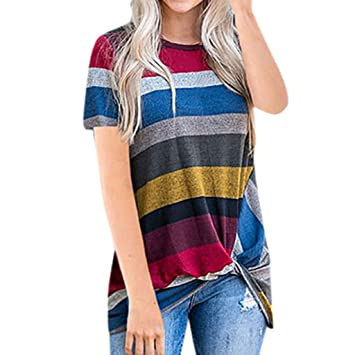a218d63dc8 Amazon.com: Euone Women Tops Clearance Sales, Women's Casual Stripe ...