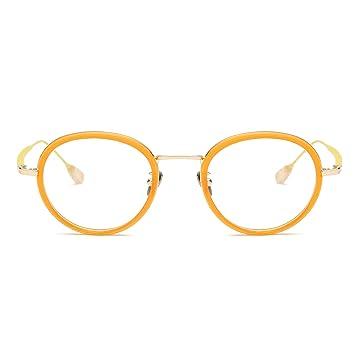 0ce136fb400e Blue Light Blocking Glasses Anti Blue Light Computer Reading Glasses VL9004  C3 Clear Orange Frame