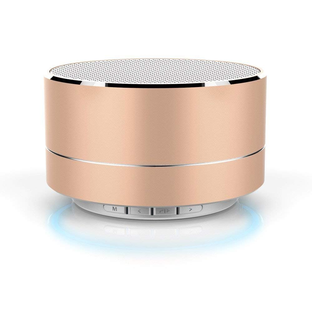 cea5d4c3134 MUSTTALK A10 Mini Wireless Bluetooth Stereo Speakers Metal Body with Led  Light