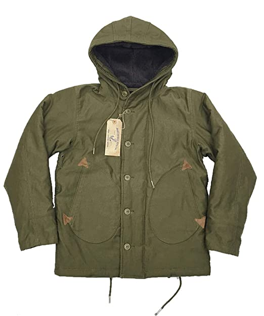 1691f2d5aa VTGDR Winter Observer Parka Wool Lining N-1 Hooded Deck Jacket Coat:  Amazon.ca: Clothing & Accessories
