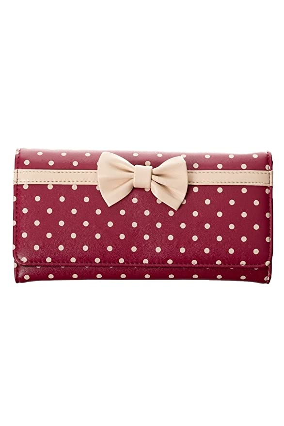 1950s Handbags, Purses, and Evening Bag Styles Banned Carla 50s Vintage Style Polka Dot Wallet $19.99 AT vintagedancer.com