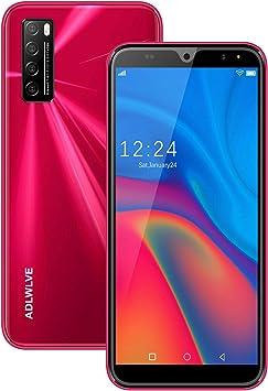Moviles Libres 4G,6.0Pulgadas 3GB RAM 32GB ROM / 64GB Smartphone Libre Android 9.0 Face ID teléfonos móviles gratuitos, 8MP 4600mAh,Dual SIM Quad Core Moviles Buenos (Rojo): Amazon.es: Electrónica
