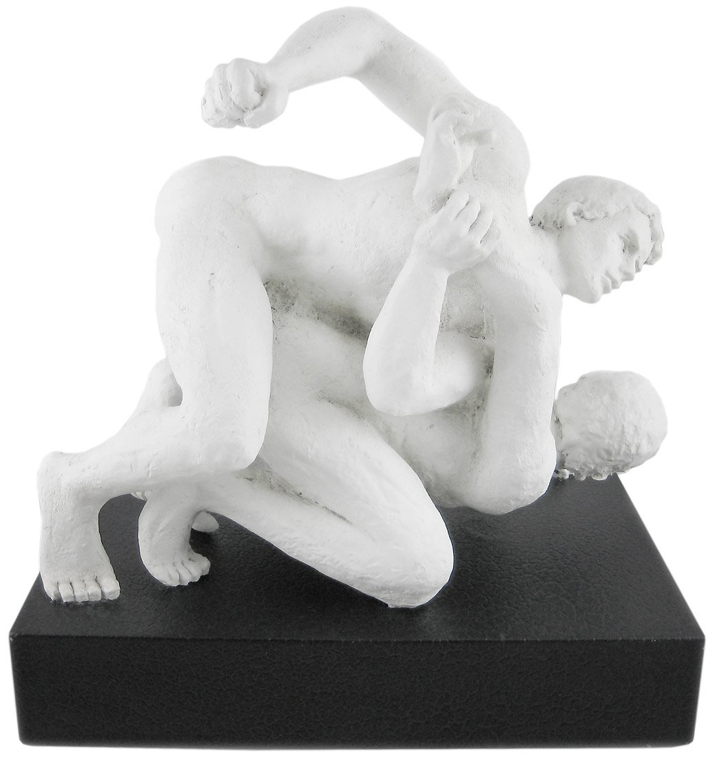 Amazon.com: Things2Die4 Vitruvian Collection Nude Male Wrestlers Statue:  Home & Kitchen