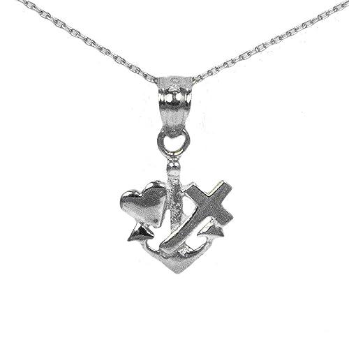 Amazon sterling silver faith hope love pendant handmade sterling silver faith hope love pendant aloadofball Gallery