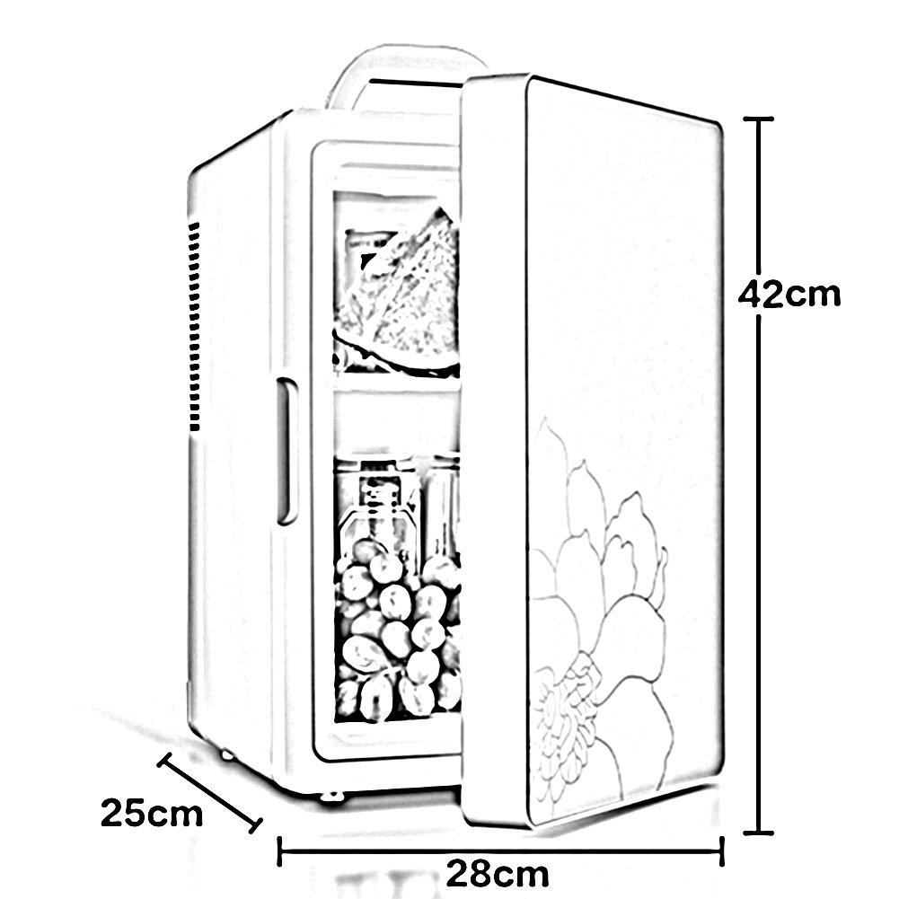 LIQICAI 16L Glacière Électrique Portable De Voiture Chauffage Poignée Refroidissement Double Usage Mini Poignée Chauffage De Transport Facile D'oscillation 12V DC (Auto) 230V AC (Zuhause) (Farbe   grau Weiß) 379981