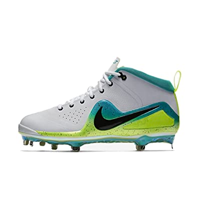 size 40 9143f 4313c Image Unavailable. Image not available for. Color NIKE Force Zoom Trout 4  Mens Baseball Cleat WhiteVoltRage Green ...
