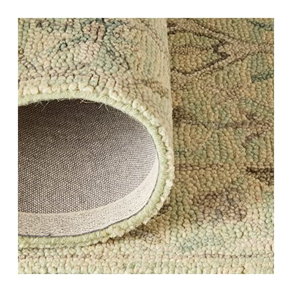 """Amazon Brand – Stone & Beam Serene Tassled Wool Runner Rug, 2' 6"""" x 8', Multi - 80% Wool 20% Cotton Imported Delicate details of beige and blue accent this neutral runner. Its soft, soothing wool lends comfort and an elegant anchor to any traditional, transitional or contemporary room. - runner-rugs, entryway-furniture-decor, entryway-laundry-room - 61EJd0jidUL. SS570  -"""