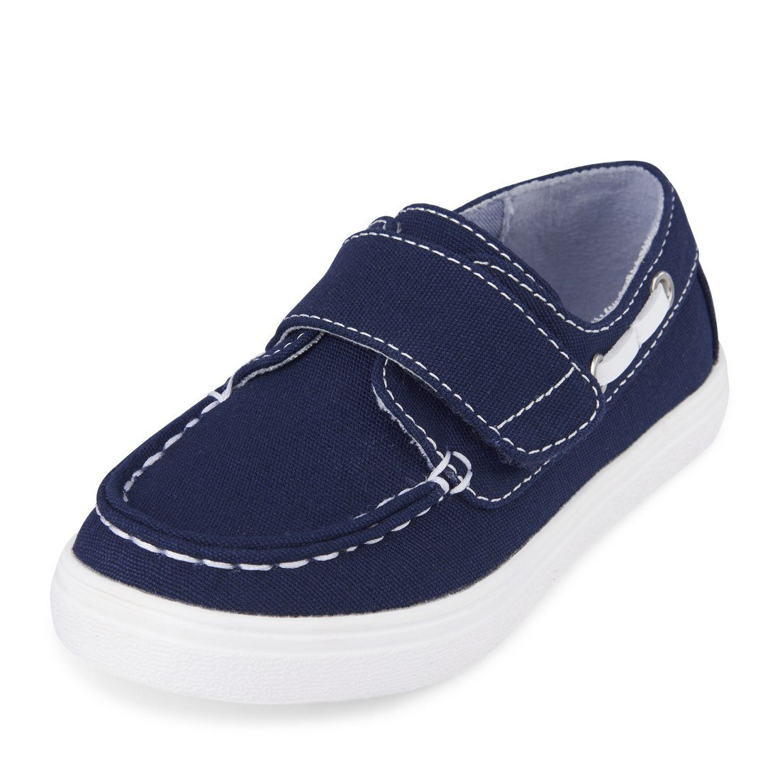 The Children's Place Boys' TB Velcro Street Slipper, Navy, TDDLR 8 Medium US Big Kid