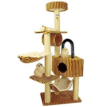 QAHMPJ Árbol del Gato con el Poste de rasguño, Artículos para Mascotas para la Basura de Gatos, Depiladora (Color : G): Amazon.es: Hogar