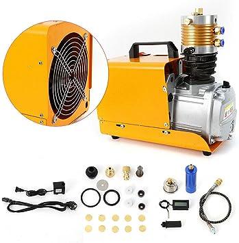 Yiiiby Bomba de aire de alta presión eléctrica PCP Compresor de aire 300bar 30MPA 4500PSI para prueba de alta presión, botellas, automóviles: Amazon.es: Bricolaje y herramientas