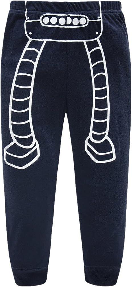 Boys Pajamas Robot Childrens Pjs Kids Rib Long Sleeves Cotton Clothes Set