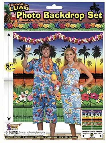 Forum Novelties Luau Party Photo Backdrop, 5 (Picture Novelty)