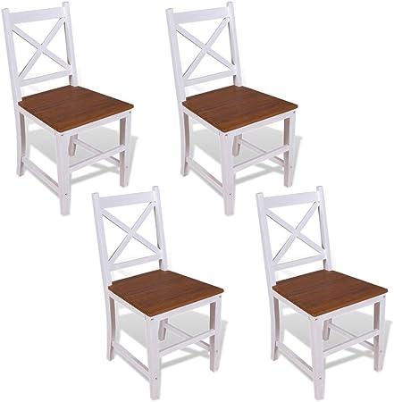 sillas blancas y caoba comedor