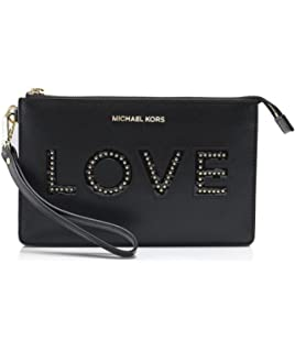 90beec782c29 Amazon.com: Michael Michael Kors Medium Gusset Leather Love Wristlet ...