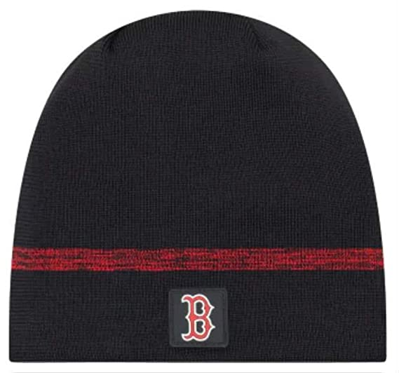 4de5975ba89896 Image Unavailable. Image not available for. Color: New Era Authentic Boston  Red Sox Club House No-Cuff Sport Knit MLB Onfield Sideline