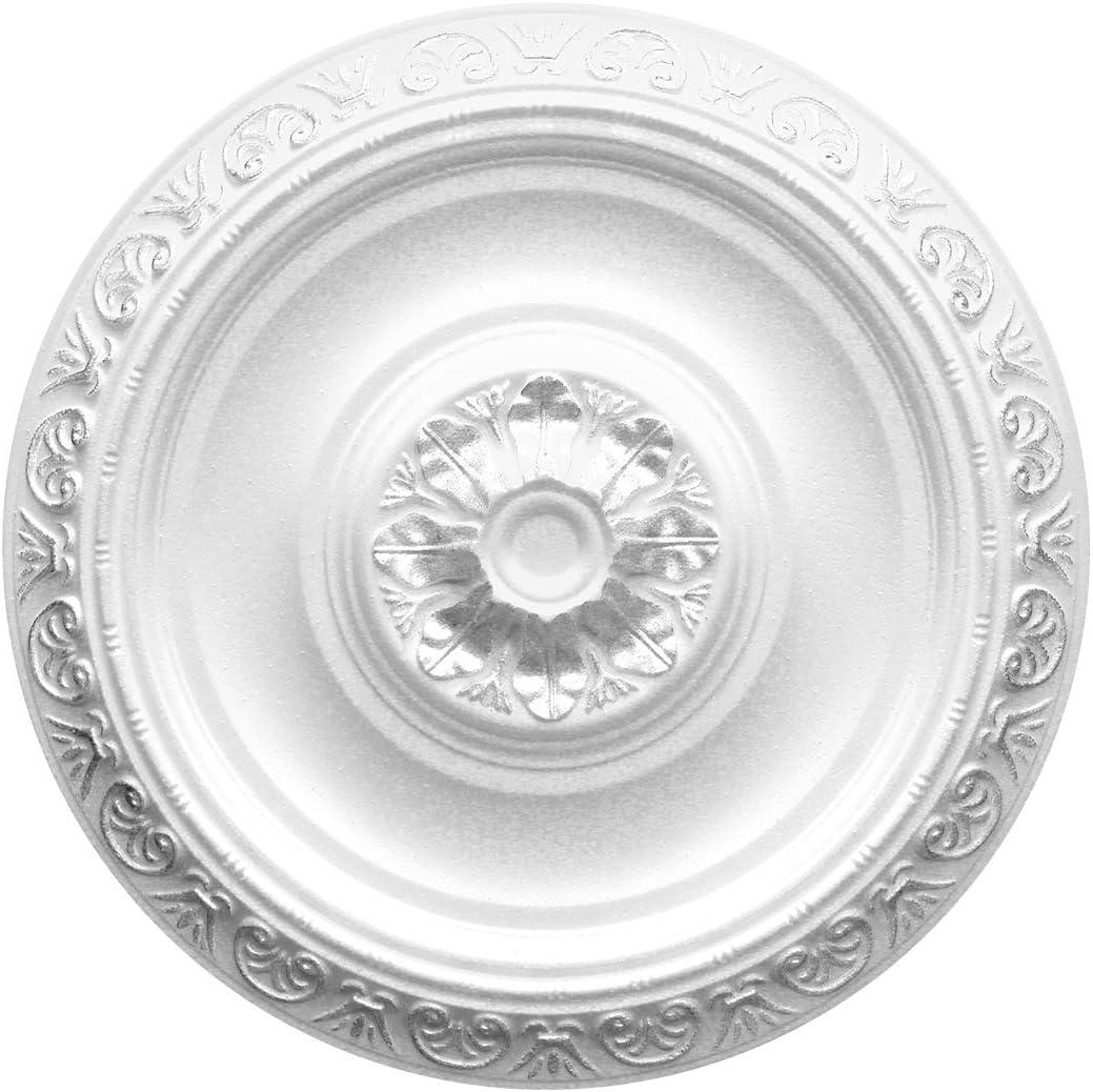 gran selecci/ón de 1 pieza de 40 cm de di/ámetro R-02 plateado bonita l/ámpara de ara/ña para techo y pared Roseta de poliestireno
