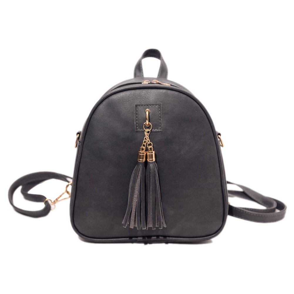 Stylish Women PU Leather Backpacks Small Shoulder Bag With Tassel for Girls