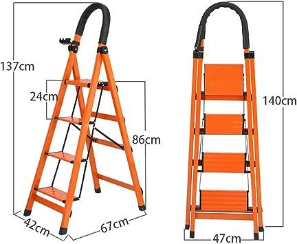 Escalerilla, Escalera plegable de aluminio de 3/4/5 pasos, escalera de tijera, escalera de extensión, patas antideslizantes - empuñadura de goma 丨 Diseño plegable fácil de guardar - Ideal for el hogar: Amazon.es:
